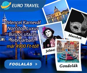 Velencei Karnevál NonStop Buszos út már 4.900 Ft-tól!