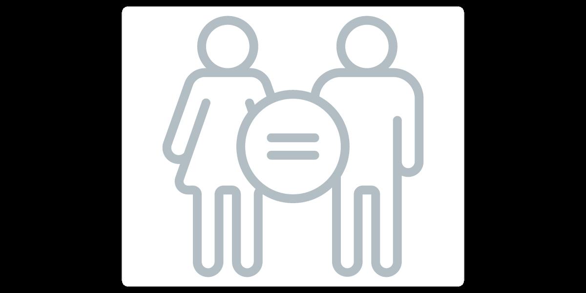 Egyenlő bánásmód ikon a Zyntern.com oldaláról